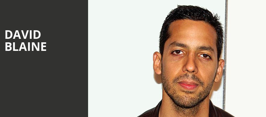David Blaine, Fox Theater, Tucson